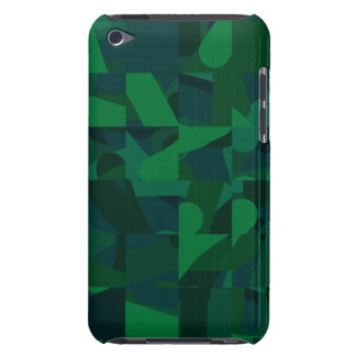 Dark Green Abstract Pattern. iPod Touch Covers