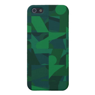 Dark Green Abstract Pern. Case For iPhone 5/5S