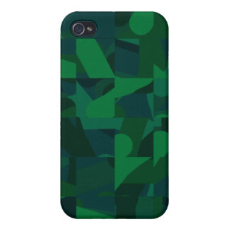 Dark Green Abstract Pern. iPhone 4/4S Cover