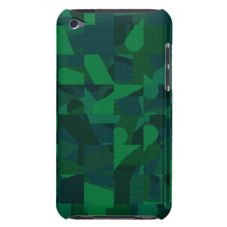 Dark Green Abstract Pern. iPod Touch Cases
