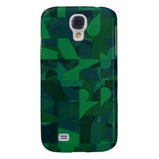 Dark Green Abstract Pern. Samsung Galaxy S4 Cover
