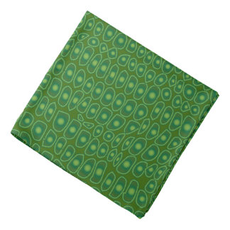 Dark Green Alligator Design Bandana