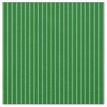 [ Thumbnail: Dark Green and Aquamarine Colored Stripes Fabric ]