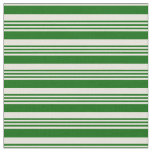 [ Thumbnail: Dark Green and Beige Colored Striped Pattern Fabric ]