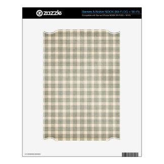 Dark Green and Beige Plaid Skin For The NOOK