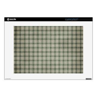 "Dark Green and Beige Skins For 15"" Laptops"