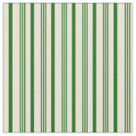 [ Thumbnail: Dark Green and Bisque Lined Pattern Fabric ]