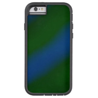 Dark Green and Blue Stripes Pattern Case Tough Xtreme iPhone 6 Case