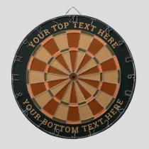 Dark Green and Brown Dartboard with Custom Text