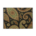 Dark green and burgundy paisley.png iPad mini cover
