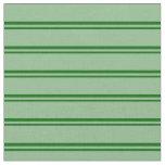 [ Thumbnail: Dark Green and Dark Sea Green Striped Pattern Fabric ]