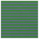 [ Thumbnail: Dark Green and Dark Slate Blue Colored Stripes Fabric ]