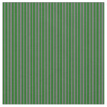 [ Thumbnail: Dark Green and Dim Grey Colored Lines Fabric ]