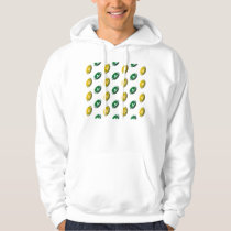 Dark Green and Gold Football Pattern Hoodie