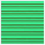 [ Thumbnail: Dark Green and Green Colored Lines Fabric ]