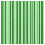 [ Thumbnail: Dark Green and Green Stripes Pattern Fabric ]