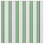 [ Thumbnail: Dark Green and Lavender Colored Stripes Pattern Fabric ]