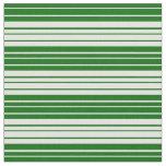 [ Thumbnail: Dark Green and Light Cyan Colored Pattern Fabric ]