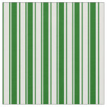 [ Thumbnail: Dark Green and Light Cyan Colored Stripes Fabric ]