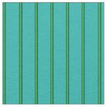 [ Thumbnail: Dark Green and Light Sea Green Stripes Fabric ]