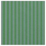 [ Thumbnail: Dark Green and Light Slate Gray Lines Fabric ]