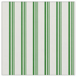 [ Thumbnail: Dark Green and Light Yellow Colored Lines Fabric ]