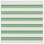 [ Thumbnail: Dark Green and Mint Cream Pattern Fabric ]