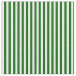 [ Thumbnail: Dark Green and Mint Cream Stripes Fabric ]