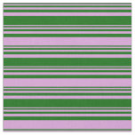 [ Thumbnail: Dark Green and Plum Colored Lines Pattern Fabric ]