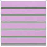 [ Thumbnail: Dark Green and Plum Colored Pattern of Stripes Fabric ]