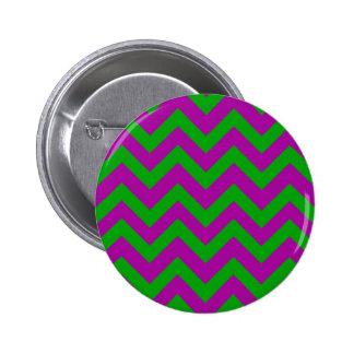 Dark Green And Purple Chevrons Pinback Button