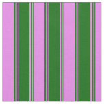 [ Thumbnail: Dark Green and Violet Colored Pattern Fabric ]