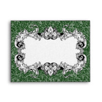 Dark Green and White A2 Gothic Baroque Envelopes