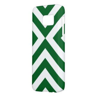 Dark Green and White Chevrons Case