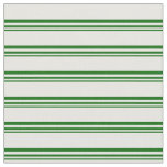 [ Thumbnail: Dark Green and White Colored Lines Fabric ]