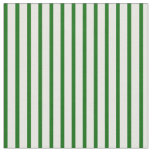 [ Thumbnail: Dark Green and White Colored Pattern of Stripes Fabric ]