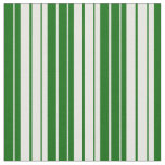 [ Thumbnail: Dark Green and White Lines Fabric ]