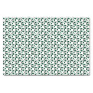 Dark Green and White Soccer Ball Tissue Paper