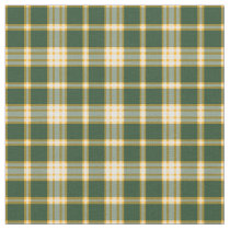 Dark Green and Yellow Gold Sporty Plaid Fabric