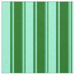 [ Thumbnail: Dark Green, Aquamarine & Sea Green Colored Lines Fabric ]