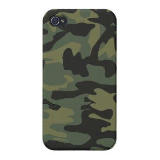 Dark green army camo pattern iPhone 4/4S case
