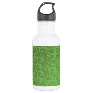 Dark Green Balls 18oz Water Bottle
