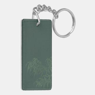 Dark Green Bamboo Acrylic Keychain