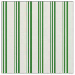 [ Thumbnail: Dark Green & Beige Colored Striped/Lined Pattern Fabric ]