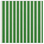 [ Thumbnail: Dark Green & Beige Lined Pattern Fabric ]