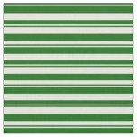 [ Thumbnail: Dark Green & Beige Lines/Stripes Pattern Fabric ]