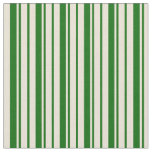 [ Thumbnail: Dark Green & Bisque Colored Lines Fabric ]