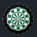 """Dark Green Black And White Dartboard<br><div class=""""desc"""">Dark Green Black And White Dart Board</div>"""