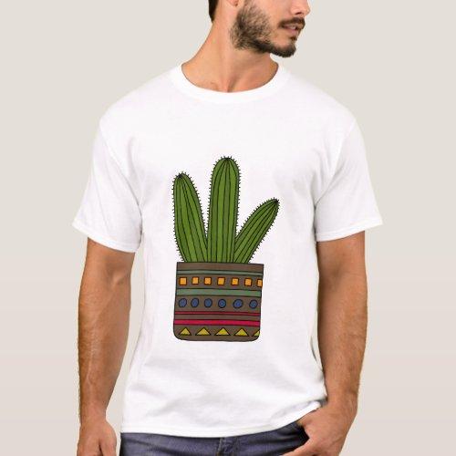 Dark Green Cacti T_Shirt