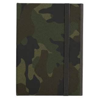 Dark Green Camo Faux Cloth iCase iPad Air Case